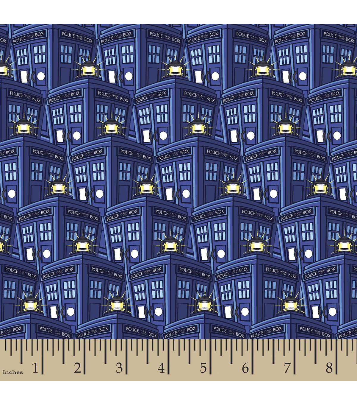 Doctor Who Packed Tardis Poly Spandex Fabric | fabric i like ... : doctor who quilting fabric - Adamdwight.com