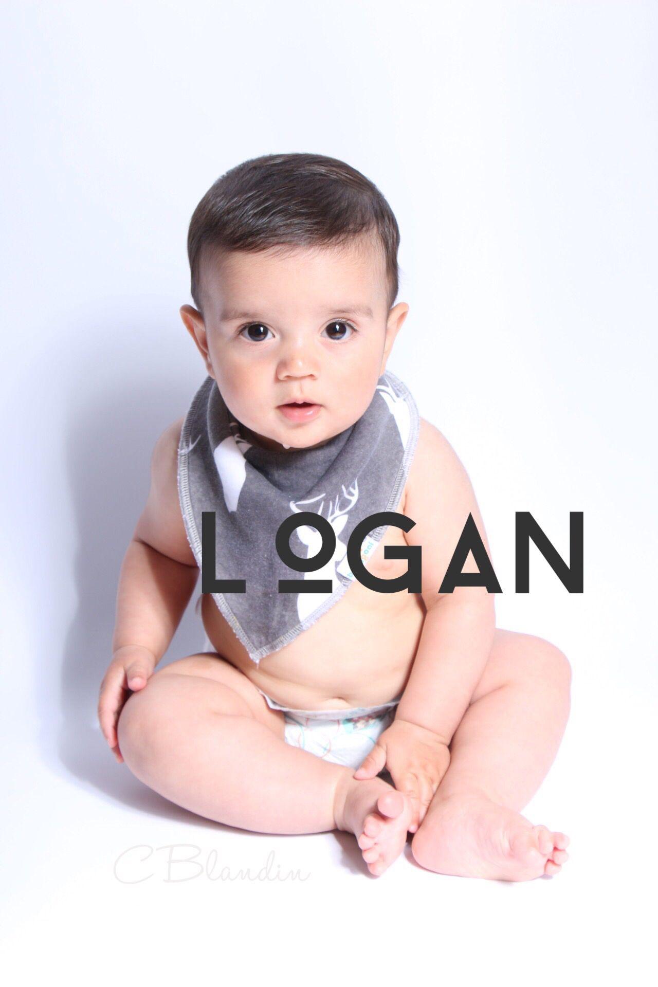 adorable handsome baby boy with rustic, woodland, bandana