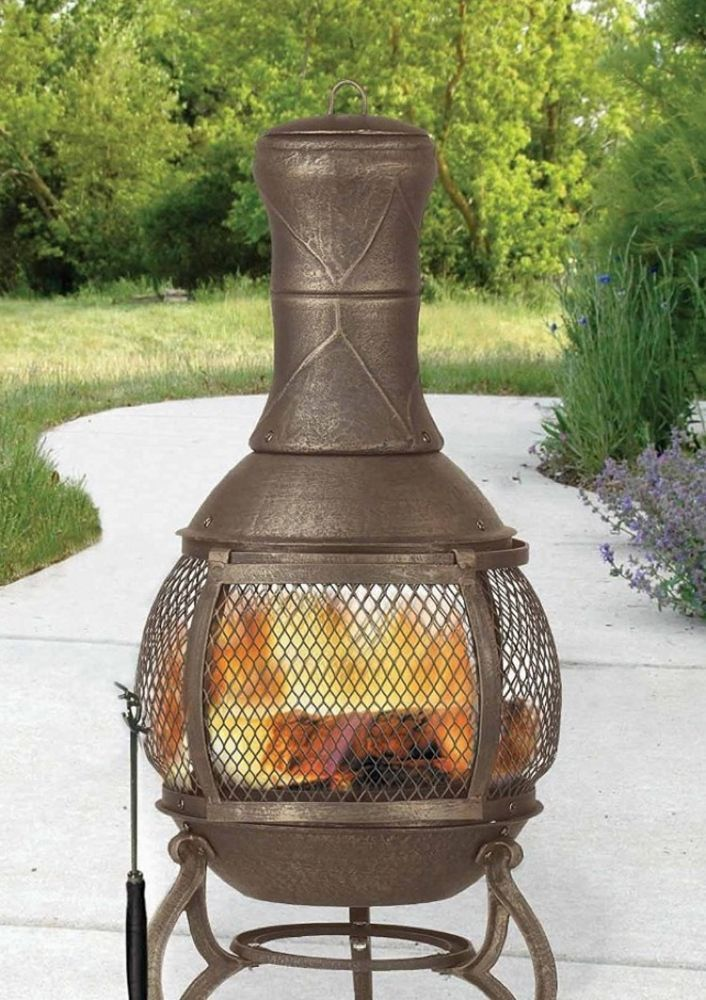 Great Chiminea Outdoor Fire Pit Fireplace Wood Burner Burning Patio Backyard Gift  NEW