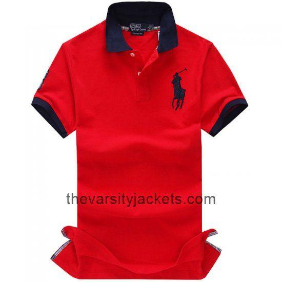 Cheap RedBlack Ralph Lauren Mens Polo T-shirts Online
