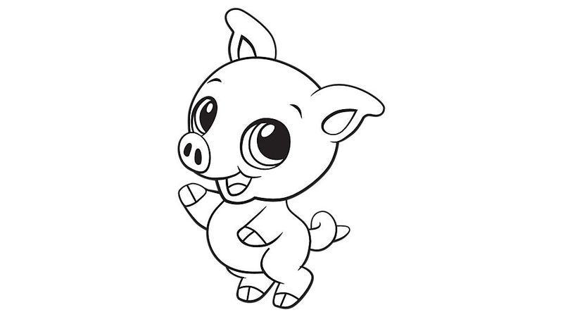 7700 Coloring Pages Of Cute Pigs  Images