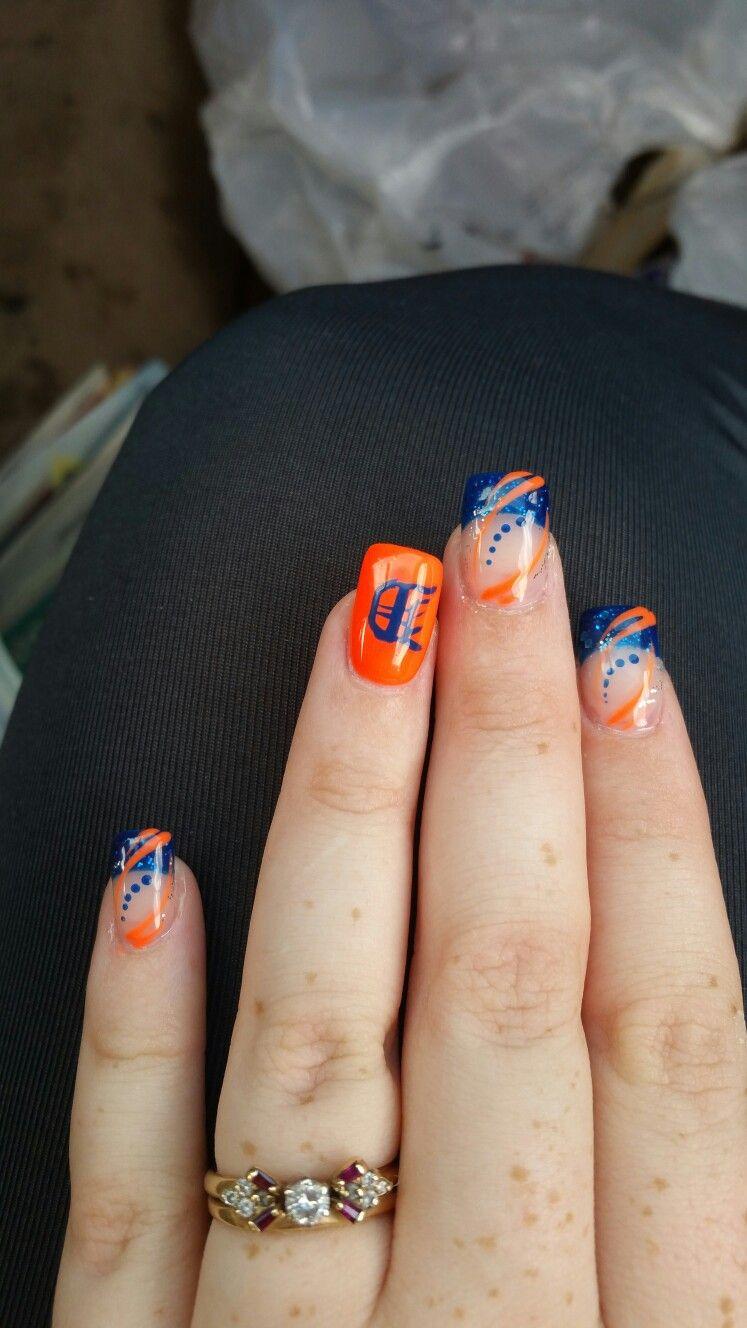Detroit tiger nails | nail design | Pinterest | Tiger nails and ...