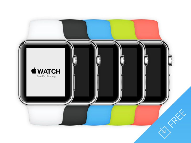 Free PSD mockup by @Tony Thomas to celebrate the Apple Watch announcement: http://medialoot.com/item/apple-watch-free-psd-mockup/
