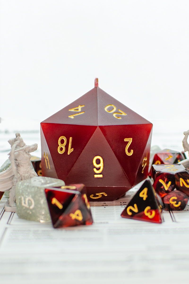Custom DnD Treasure Candle | D20 Dice Candle | Dungeons and Dragons | Pathfinder Candle