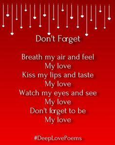Deep Love Poems for Him – Very Heart Touching | Deep love ...