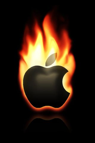 Fond D Ecran Iphone Pomme En Flamme Fond D Ecran Telephone Fond D Ecran Iphone Fond Ecran