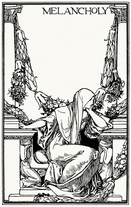 Ay In The Very Temple Of Delight Veild Melancholy Has Her Sovran Shrine Robert Anning Bell From Poems By John Keats London New York 1897