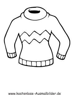 Ausmalbilder Pullover Kleidung Zum Ausmalen Malvorlagen Bekleidung Y4ca0f Clipart Jpg 236 306 Desenhos