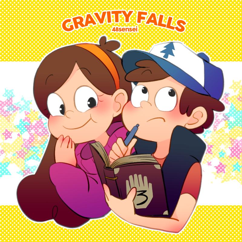 Gravity Falls,фэндомы,GF Арт,GF art,Dipper Pines,GF Персонажи,Mabel Pines