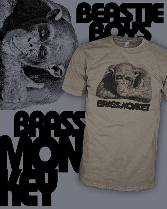 Brass Monkey T Shirt Beastie Boys Drink Shirt Brass by HipSoul $20