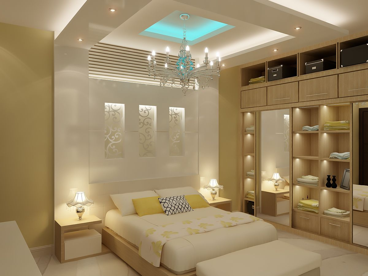 Bedroom residential in 2018 bedroom false ceiling for International decor false ceiling
