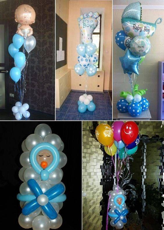 Decoraciones E Ideas Para Baby Shower Sencillo Imagenes Baby Shower Balloon Decorations Baby Shower Balloons Baby Shower Centerpieces
