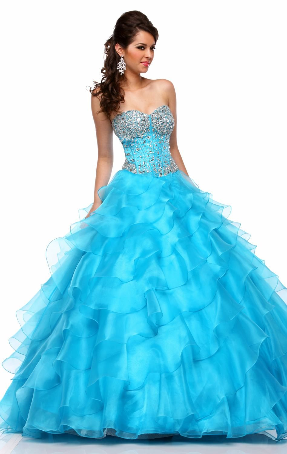 organza layers beading   fashion dress for party night ...