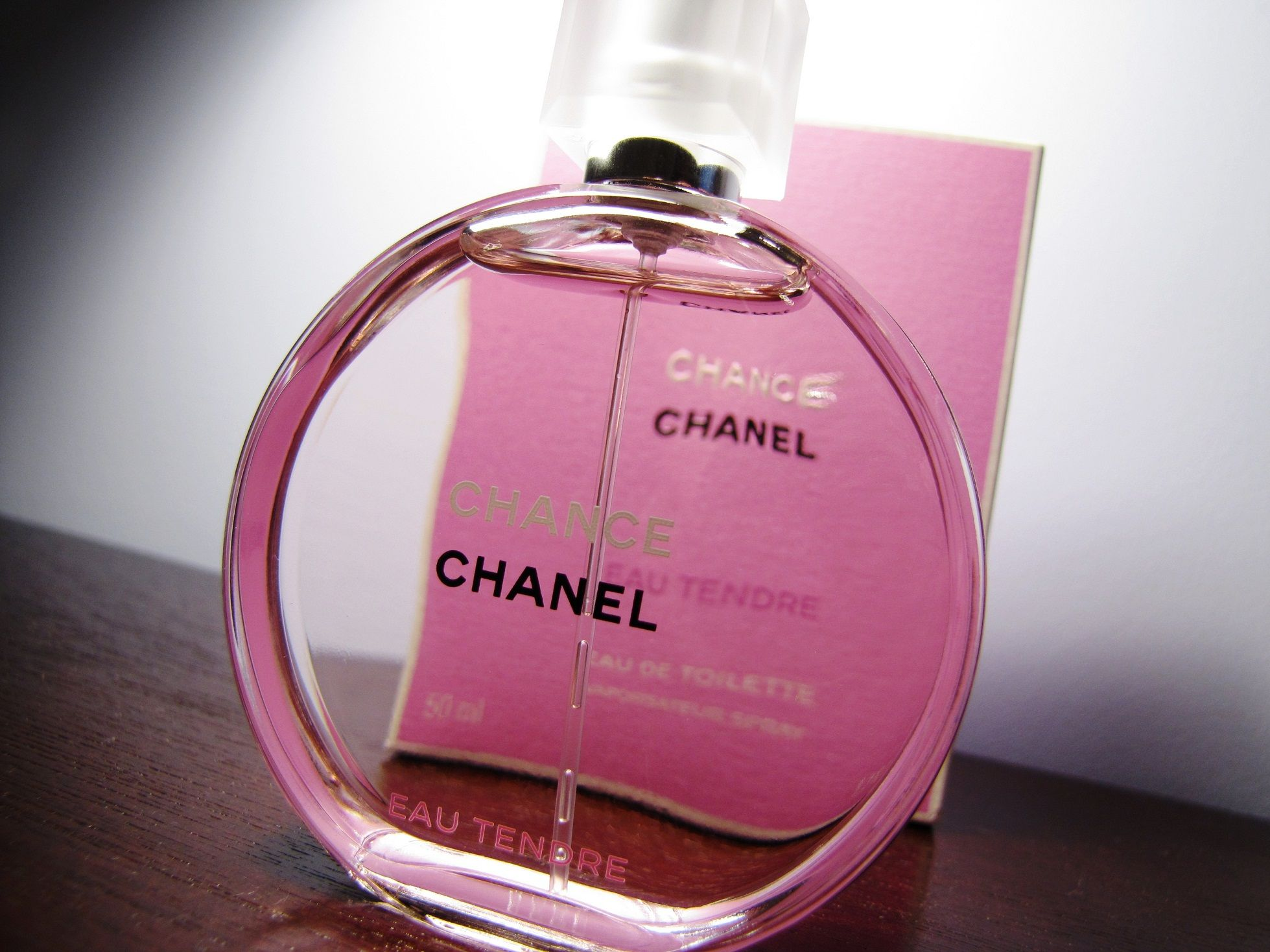 Chanel Chance pink bottle! At macy's