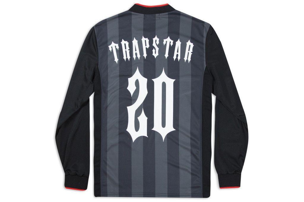 afa225071b Trapstar Riders Long Sleeve Football Jersey - Black