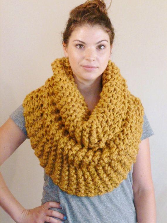 Strasburg Scarf Chunky Knit Infinity Loop Scarf By Bopeepsbonnets