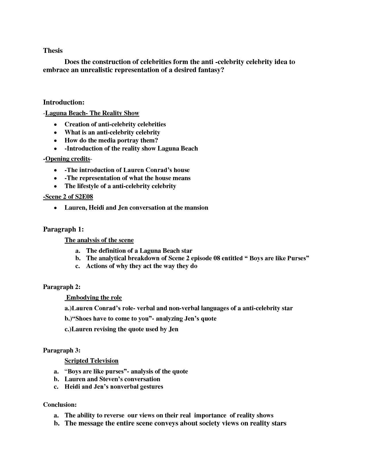 Applied research paper outline