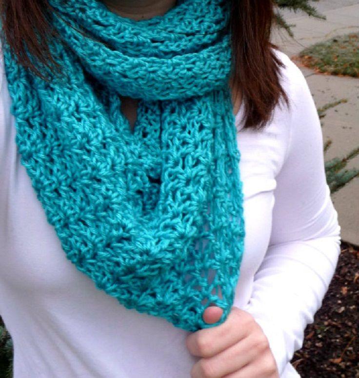 Top 10 Beautiful Free Crochet Scarf Patterns | Chal, Tejido y ...
