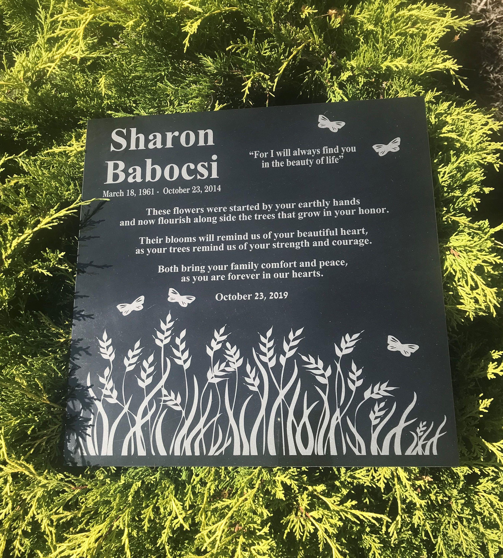 Custom Engraved Field Of Grass Marble Memorial Personalized Etsy Engraved Memorial Stone Memorial Stones Granite Memorial