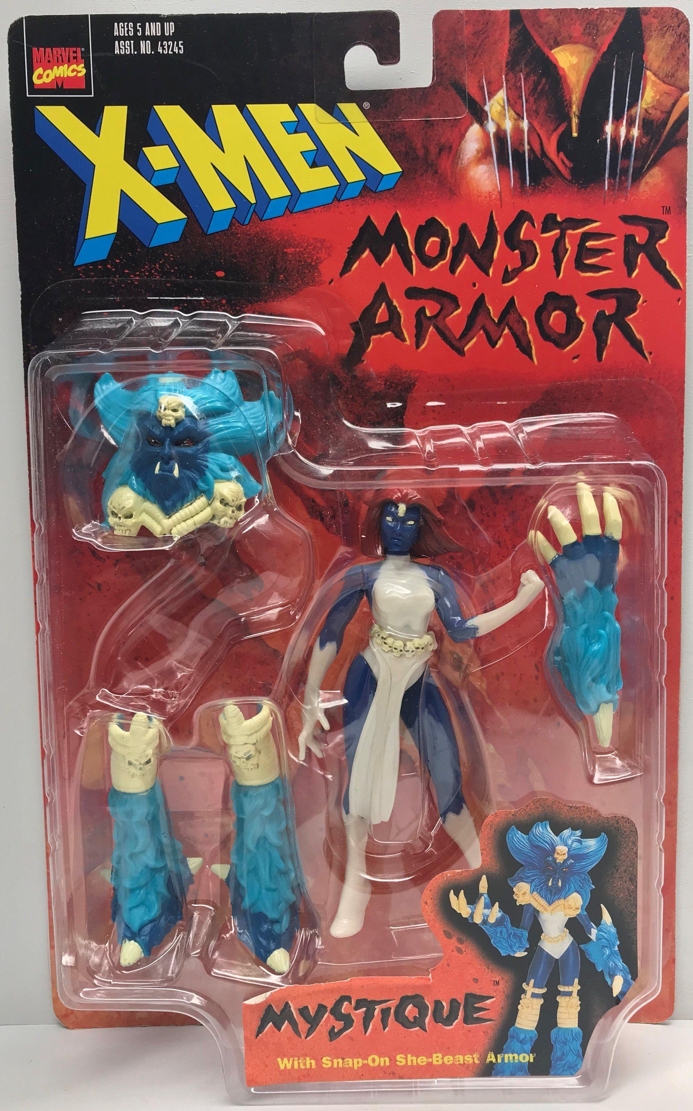 Tas039200 1997 Toy Biz X Men Monster Armor Mystique Action Figure Marvel Toys Superhero Toys Concept Art Characters
