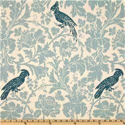 Premier Prints Barber Natural/Village Blue  Item Number: UK-709  Our Price: $7.48 per Yard