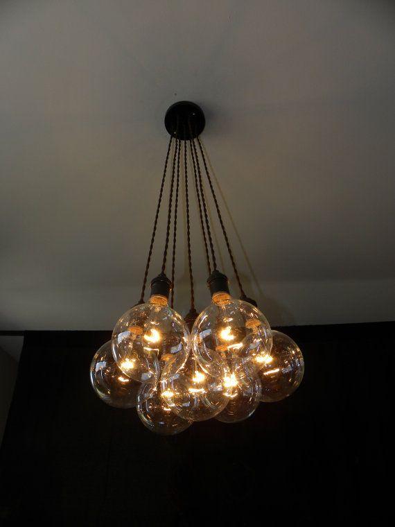 7 Cluster CUSTOM Chandelier Pendant Lighting von HangoutLighting ...