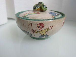 Vietri avallone ceramica zuccheriera anni gambone ceramica