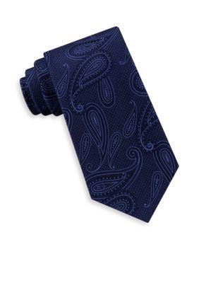 Michael Michael Kors Men's Texture Pop Paisley Neck Tie - Navy - One Size
