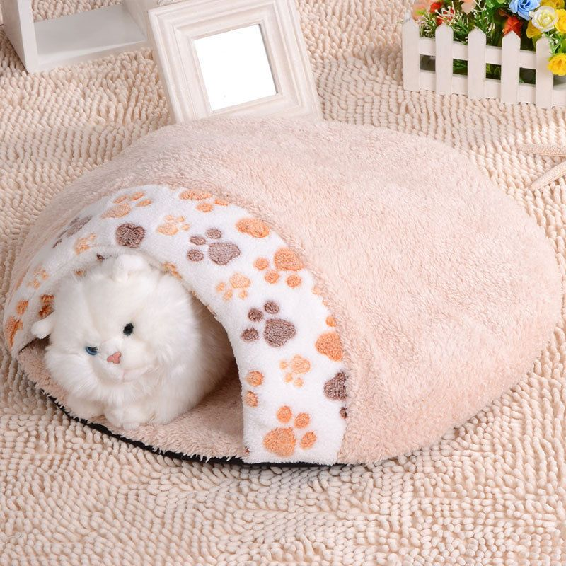 A soft and warm pet house. 1 x cat dog bed. Keep your pet warm. Let your pet feel comfortable, give your pet a sweet sleep. Pet house. Color: beige, pink. | eBay!