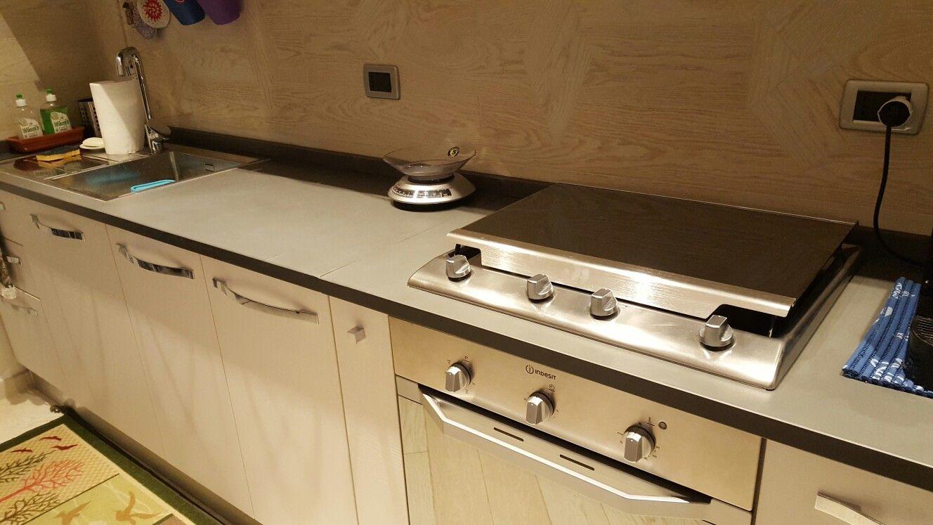 Top cucina in ardesia grigia piano naturale | Lavelli e top | Cucina ...