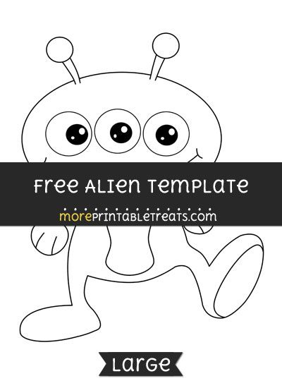 free alien template large shapes and templates printables