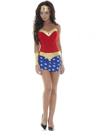 Wonder Woman Women/'s Costume Cosplay Shorts Blue