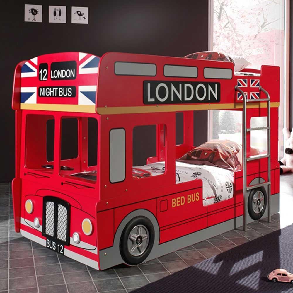 Kinderetagenbett Im Bus Design Rot Jetzt Bestellen Unter:  Https://moebel.ladendirekt.de/kinderzimmer/betten/etagenbetten/?uidu003d91a4aa6c 5962 56f1 99f2   ...
