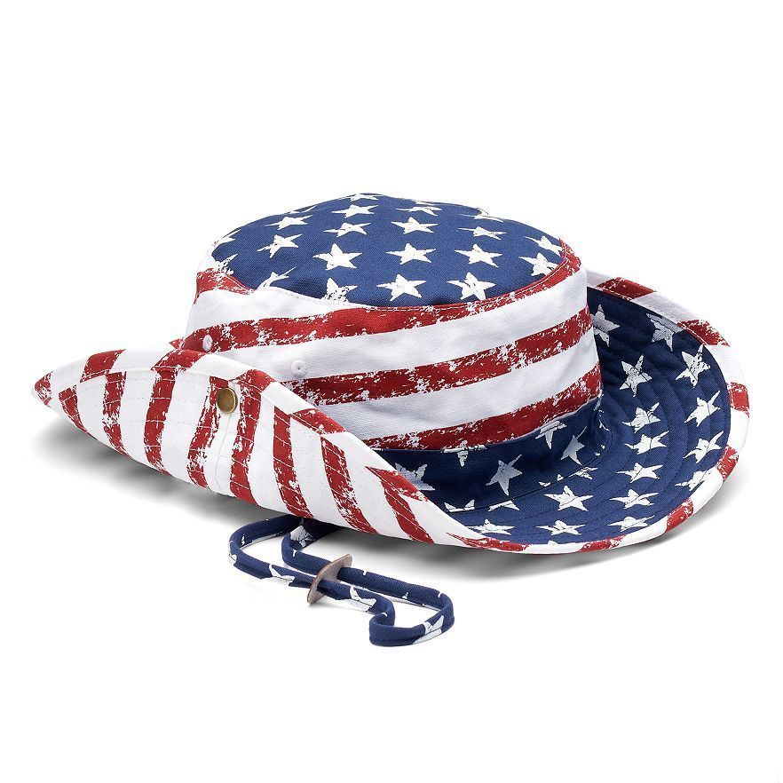 25d5e699c84f96 Stars And Stripes Boonie Bucket Hat L/Xl Mens Urban Pipeline Patriotic