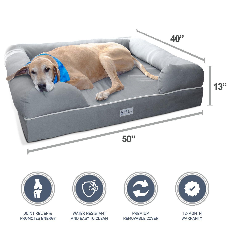 Ultimate Dog Bed Lounge Premium Edition With Solid Memory Foam Jumbo Dog Bed Dog Lounge Orthopedic Dog Bed