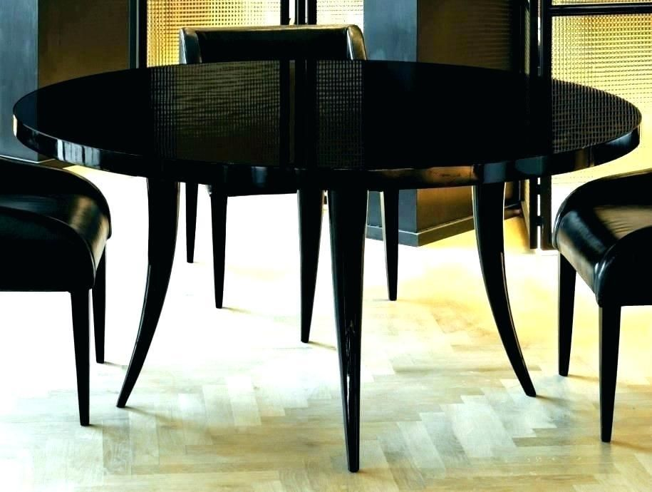 Black Laquer Furniture Lacquered Black Lacquer Dining Table