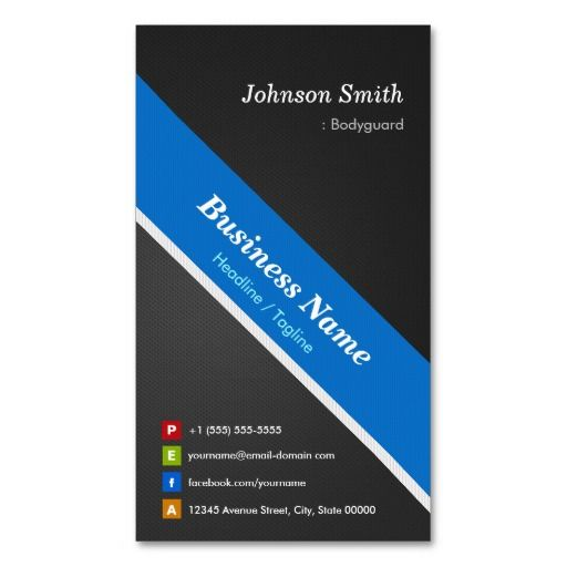 Bodyguard - Premium Double Sided Business Card Templates Bodyguard