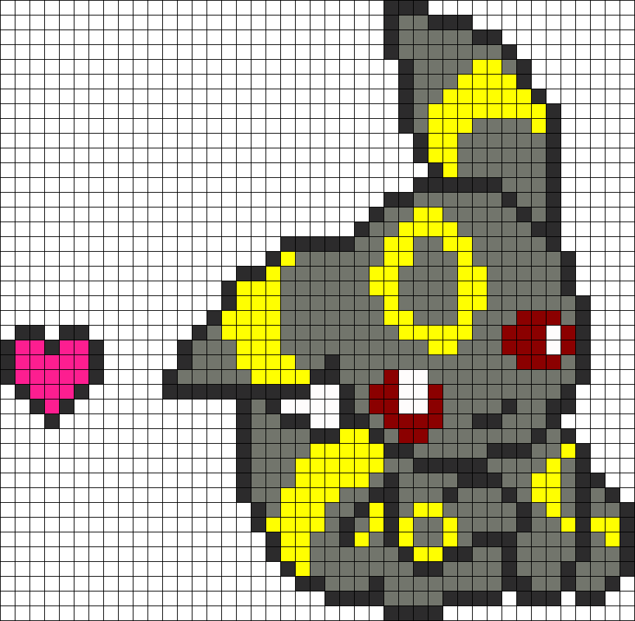 umbreon pixel art template - umbreon chibi v3 perler bead pattern bead sprite beads