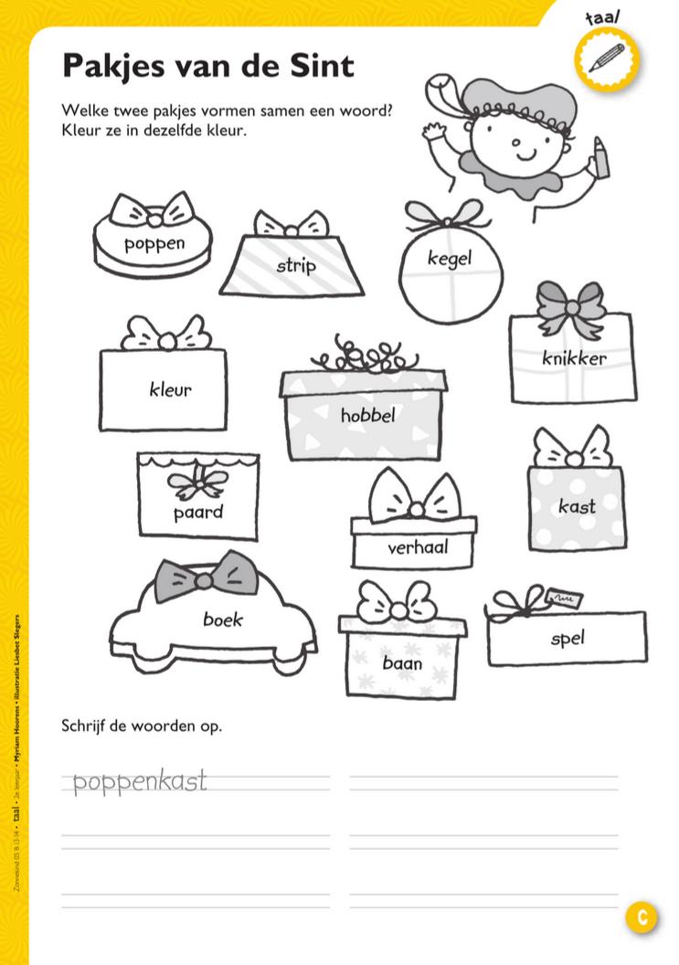 Werkblad samenstellingen - thema sint en piet @keireeen #sintenpiet