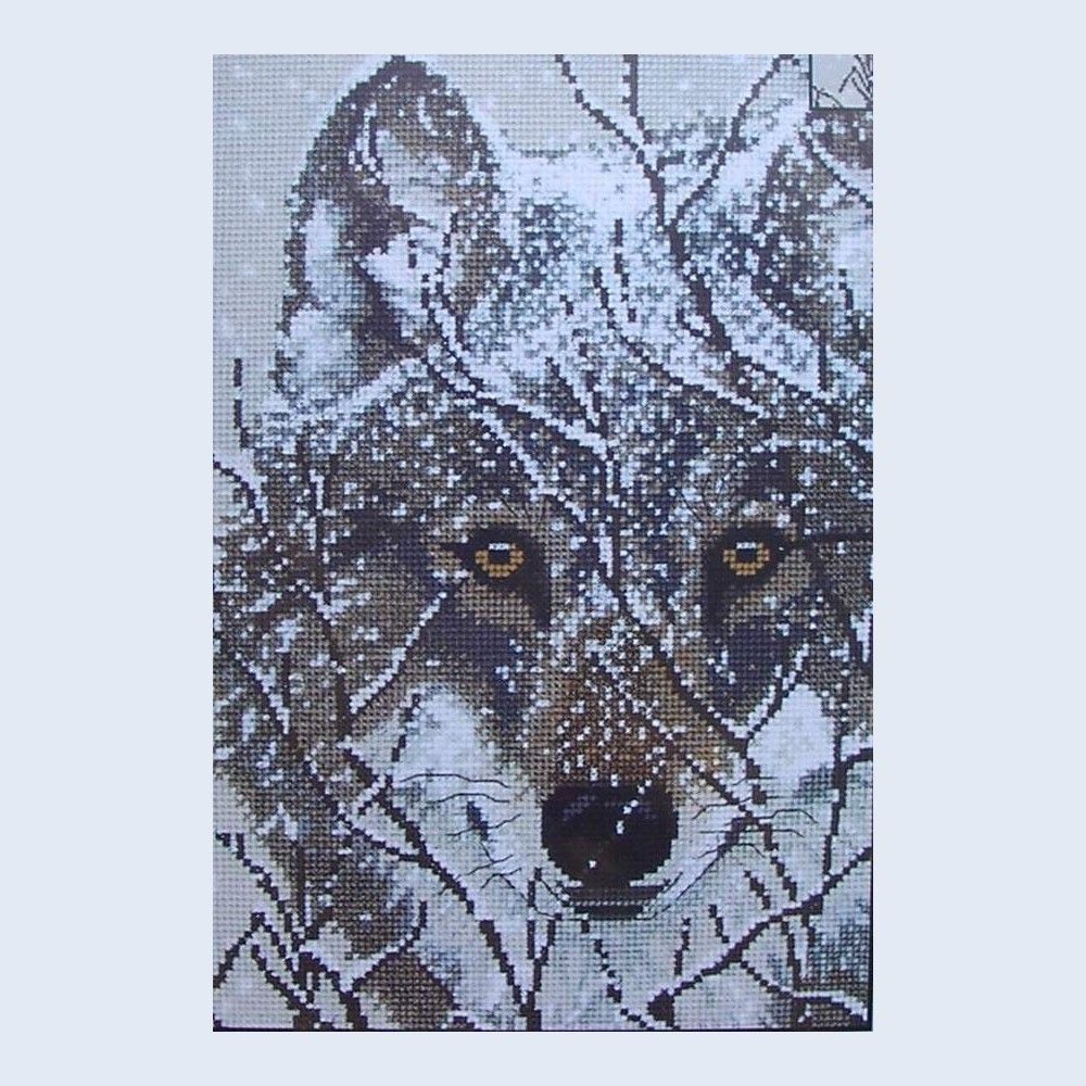 Winter Wolf Picture - counted cross-stitch kit - Candamar Designs