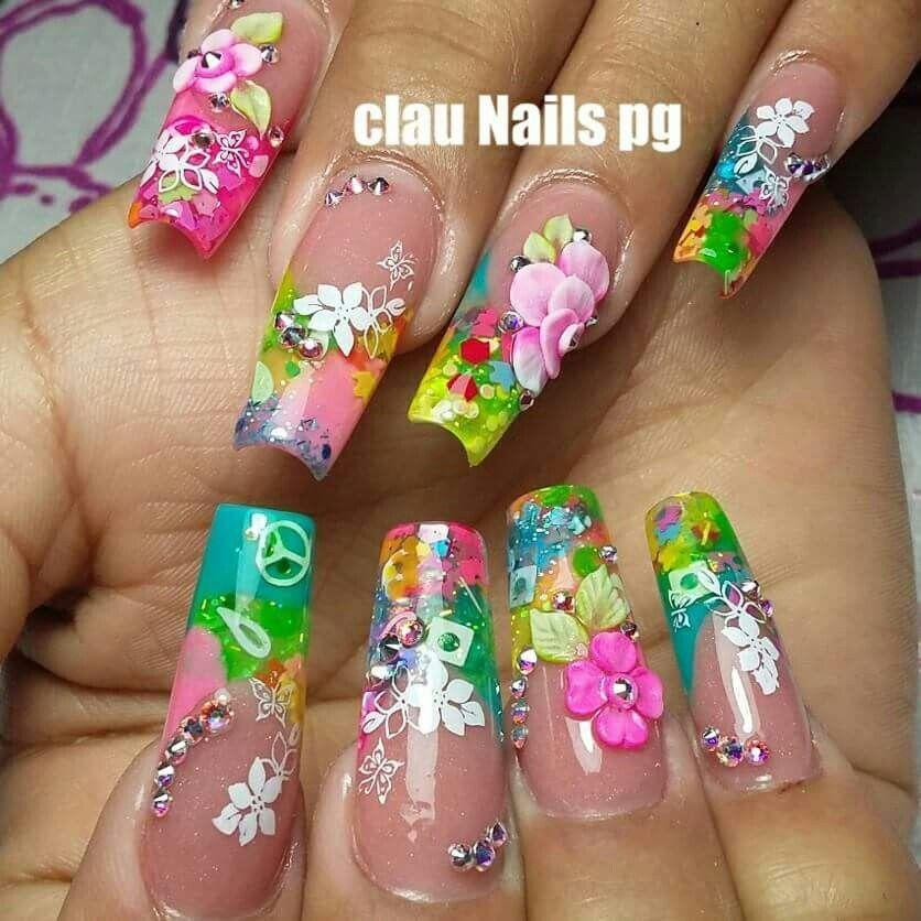 Nail Art | | Nail Technology | Pinterest | Uñas encapsuladas ...