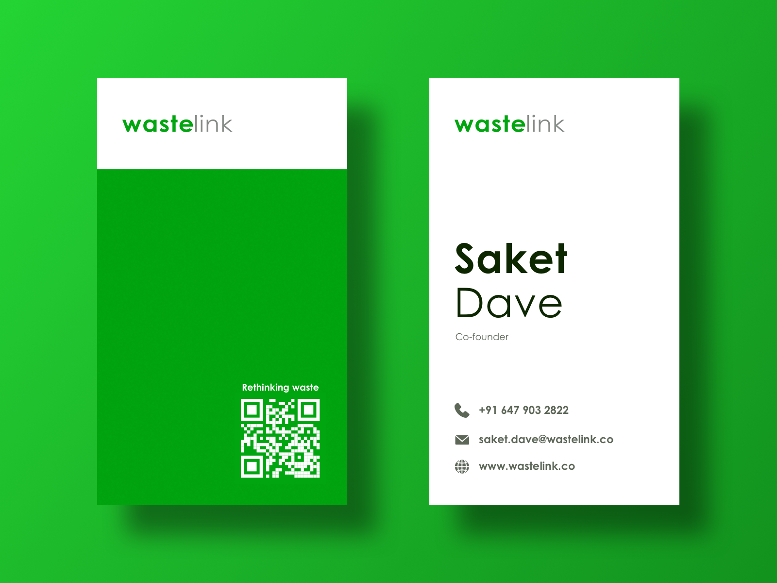 Business Cards For A Recycling Startup Business Card Template Design Business Card Design Business Cards