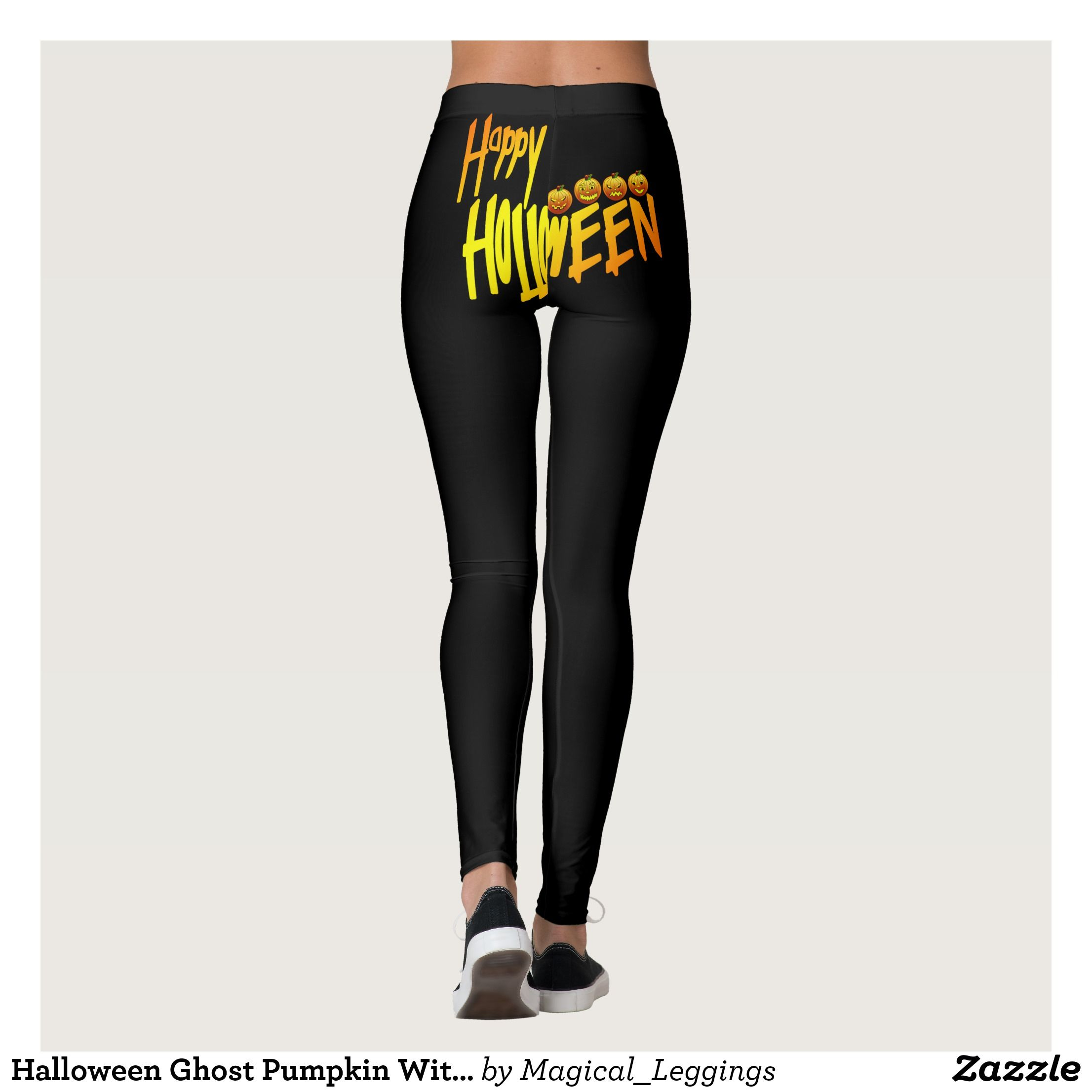 3713808fb3ab2 Halloween Ghost Pumpkin Witch Leggings : Beautiful #Yoga Pants - #Exercise  Leggings and #Running Tights - Health and Training Inspiration - Clothing  for ...