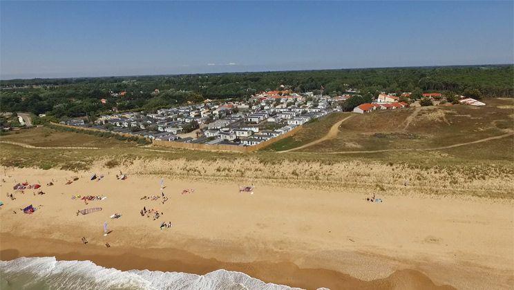 Camping Sol à Gogo - Vendée - Frankrijk - Strand Steek een duin - camping a marseillanplage avec piscine