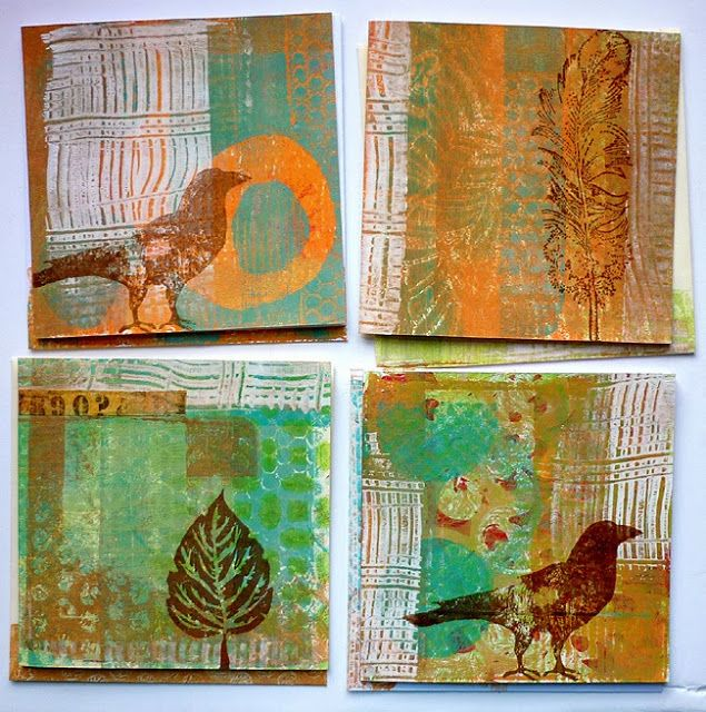 every colour in the box: Fabulous gelli prints - must get my plate out!!