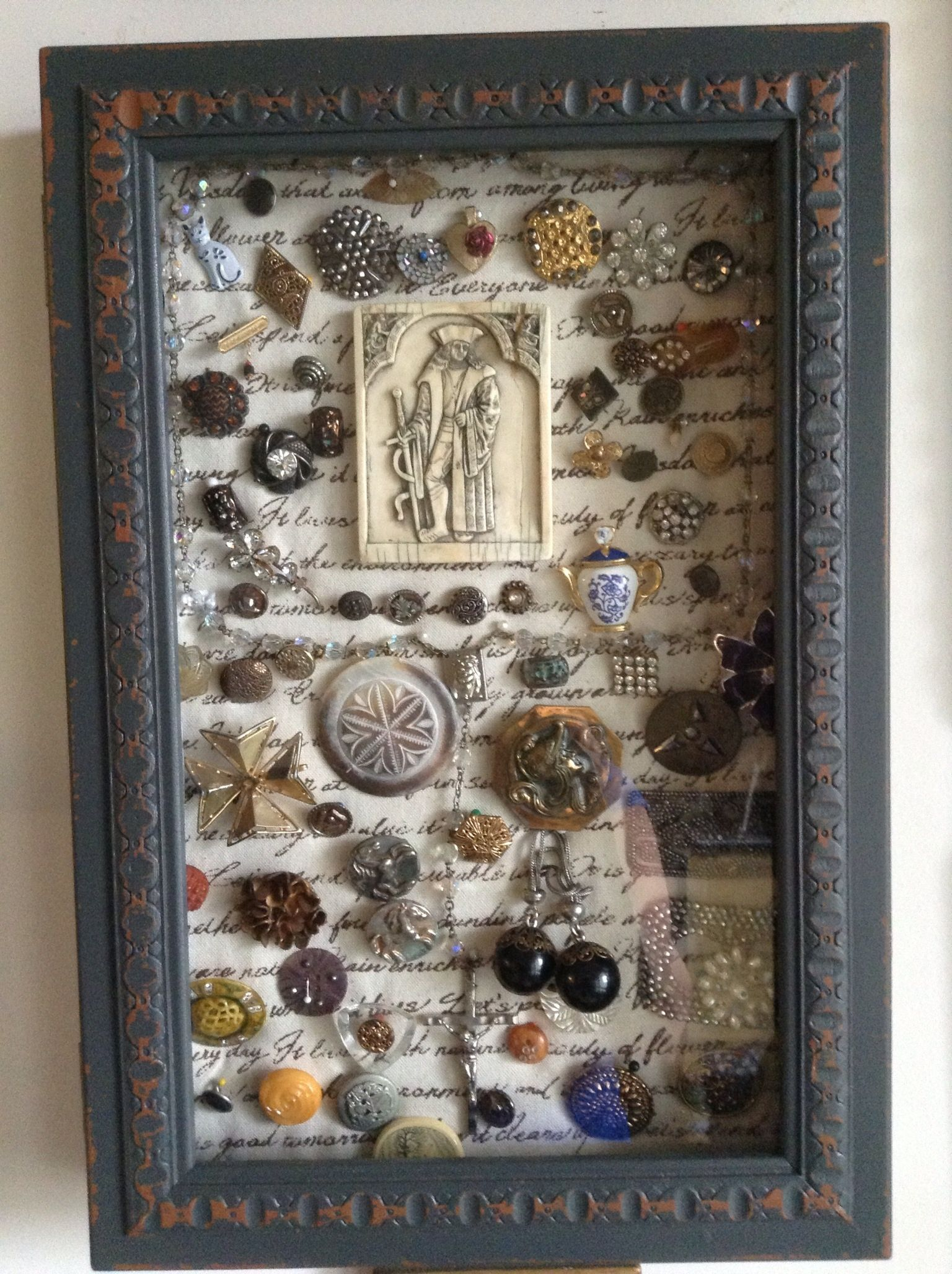I Collect Antique Buttons And Pins Bought A Shadow Box