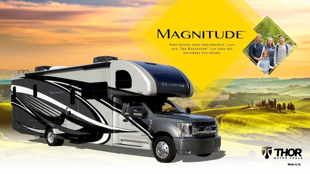 2020 magnitude class super c motorhome from thor motor