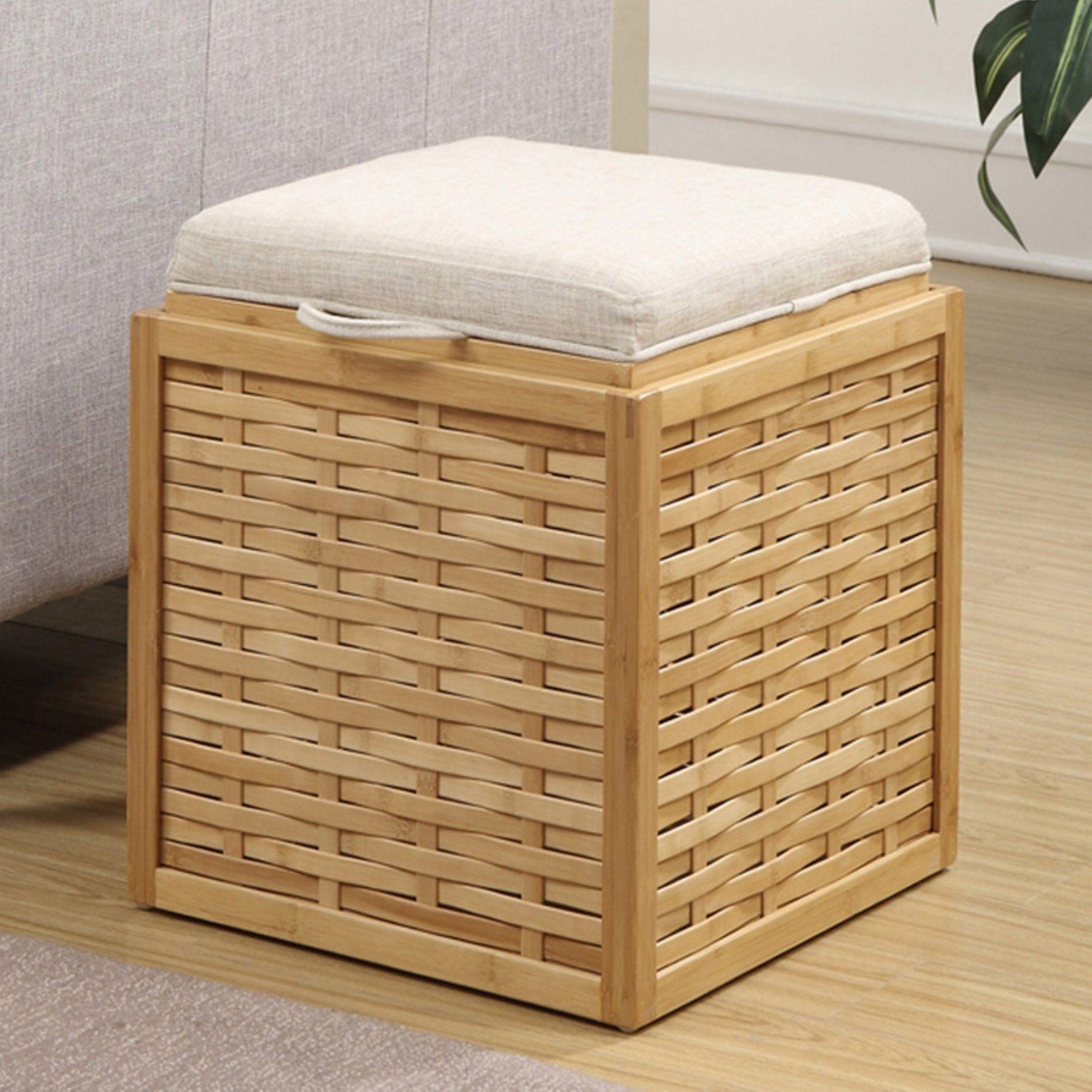 Surprising Convenience Concepts Weave Bamboo Storage Ottoman 143630W Inzonedesignstudio Interior Chair Design Inzonedesignstudiocom