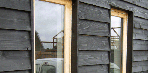 Black Stained Larch Cladding Google Search Фасад