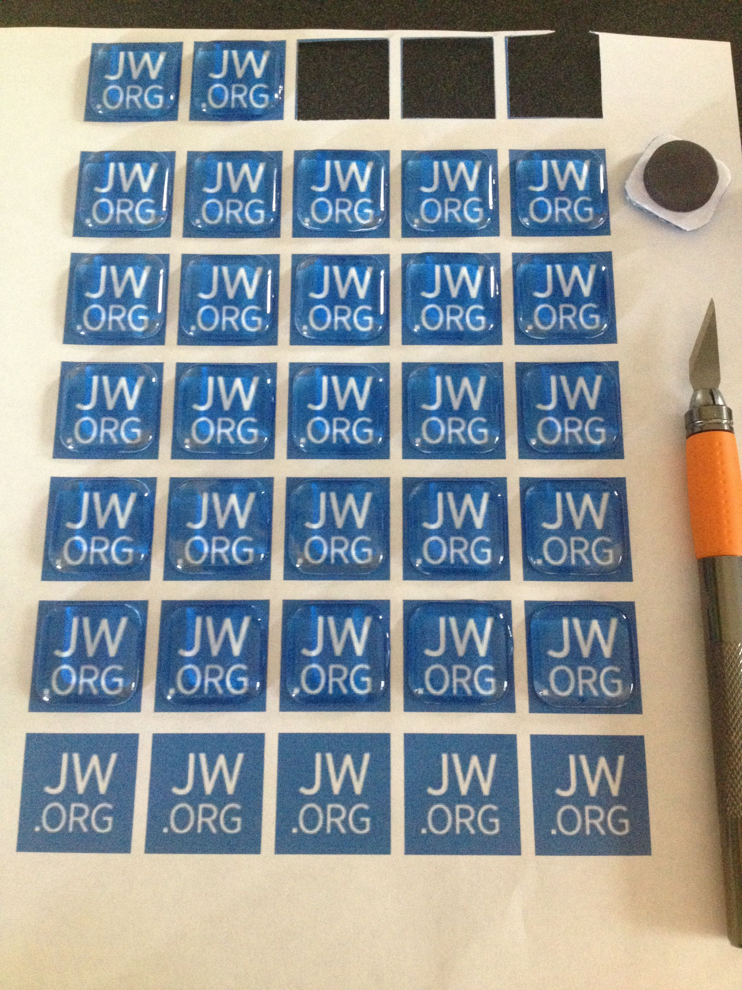 JW org magnets from glass tiles    cool gift for the next